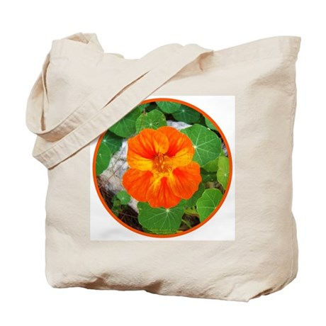 Orange Nasturtium Tote Bag