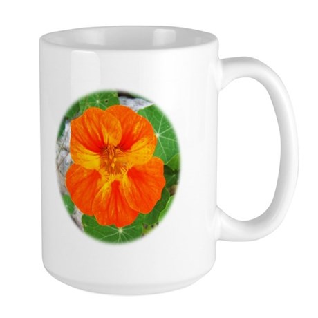Orange Nasturtium Large Mug