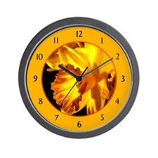 Yellow Daffodil Wall Clock