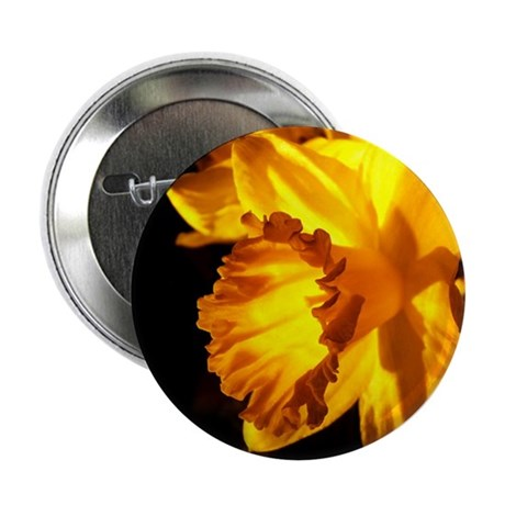"Yellow Daffodil 2.25"" Button"