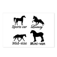 Horse Cars Postcards (Package of 8)