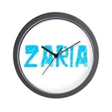 Zaria Faded (Blue) Wall Clock