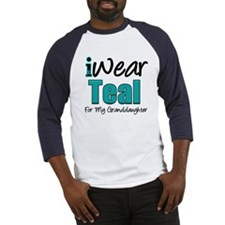 I Wear Teal Granddaughter Baseball Jersey
