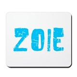 Zoie Faded (Blue) Mousepad