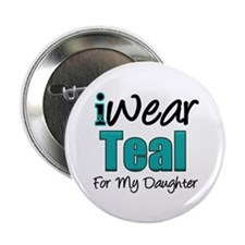 "I Wear Teal Daughter 2.25"" Button"