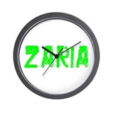 Zaria Faded (Green) Wall Clock