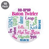 "Baton Twirler 3.5"" Button (10 pack)"