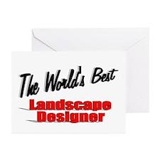 """ The World's Best Landscape Designer"" Greeting Ca"