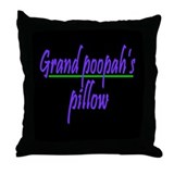 GRAND POOPAH Throw Pillow