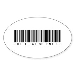 Political Scientist Barcode Oval Sticker (10 pk)