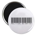 Political Scientist Barcode Magnet