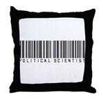 Political Scientist Barcode Throw Pillow