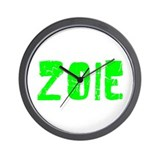 Zoie Faded (Green) Wall Clock