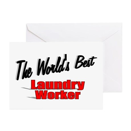 """The World's Best Laundry Worker"" Greeting Cards ("