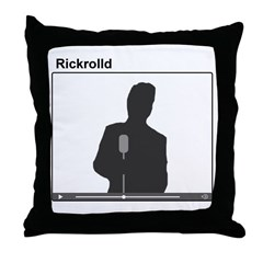 Rick Roll Throw Pillow