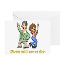 Disco will never die Greeting Cards (Pk of 20)