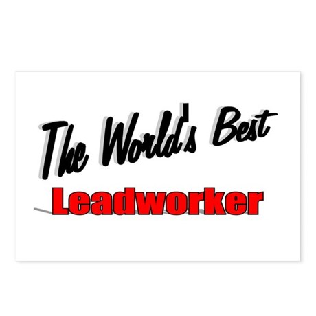 """The World's Best Leadworker"" Postcards (Package o"