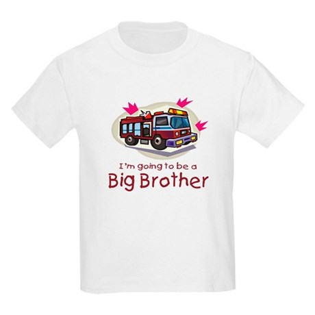 Big Brother Firetruck Kids Light T-Shirt