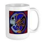 Celtic Bird & Cat Large Mug