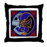 Celtic Bird &amp; Cat Throw Pillow