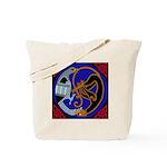 Celtic Bird & Cat Tote Bag