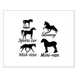 Horse Cars Small Poster
