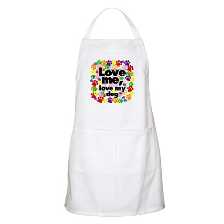 Love me, love my dog BBQ Apron