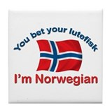 Norwegian Lutefisk Tile Coaster