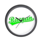 Retro Raegan (Green) Wall Clock