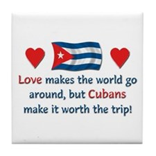Love Cubans Tile Coaster