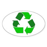 Recycle Environment Symbol Oval Sticker (10 pk)