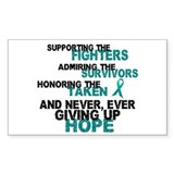 Fighters Survivors Taken 3 Rectangle Sticker 10 p