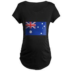 Australian Flag Maternity Dark T-Shirt