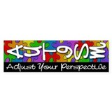 Adjust Your Perspective Bumper Stickers