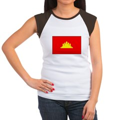 Cambodian Flag Women's Cap Sleeve T-Shirt