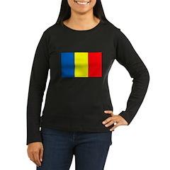 Chadian Flag Women's Long Sleeve Dark T-Shirt