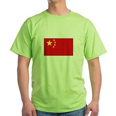 Chinese Flag Green T-Shirt