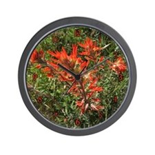 Indian Paintbrush Flower Wall Clock