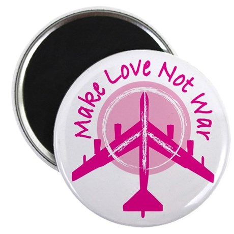 Make Love Not War Magnet