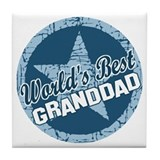 Worlds Best Granddad Tile Coaster