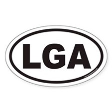 Laguardia LGA Euro Oval Decal