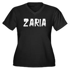 Zaria Faded (Silver) Women's Plus Size V-Neck Dark