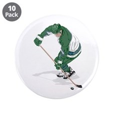 "Hockey Player 3.5"" Button (10 pack)"