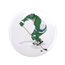 "Hockey Player 3.5"" Button (100 pack)"
