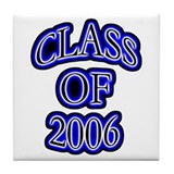 Class of 2006 glowing Tile Coaster