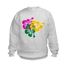 Colorful Hibiscus Sweatshirt