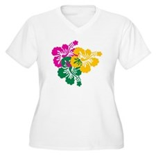 Colorful Hibiscus T-Shirt