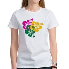 Colorful Hibiscus Tee