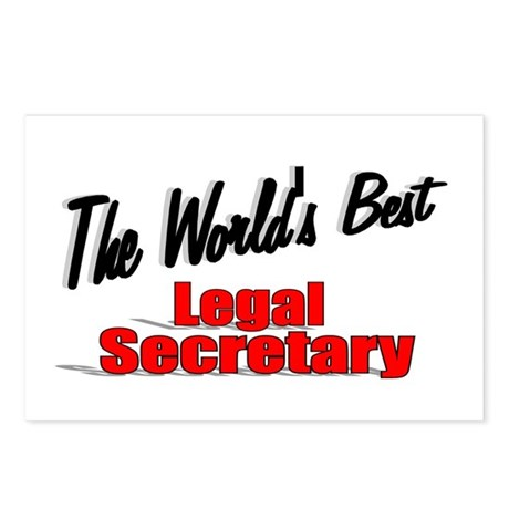&quot;The World's Best Legal Secretary&quot; Postcards (Pack