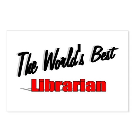 """The World's Best Librarian"" Postcards (Package of"